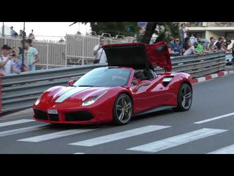Ferrari 488 Spider Opening Roof While Driving