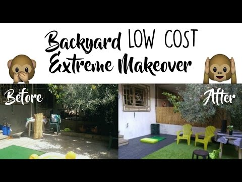 BACKYARD MAKEOVER ON A BUDGET - BEFORE & AFTER