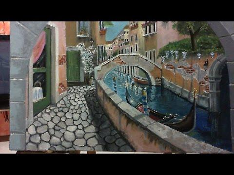 Dipingere a Spatola e pennello  VICOLO VENEZIANO