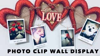 DIY Photo Clip Wall Display
