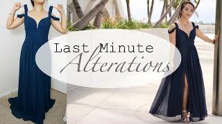 Prom Dress Alterations (Quick Fixes)