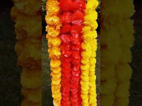 Artificial Marigold Flower String Or Garland