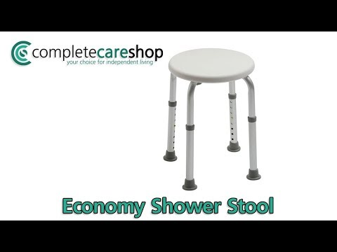 Adjustable Shower Stool Demo