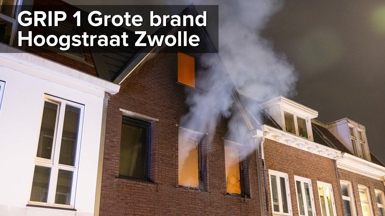 Appartement uitgebrand bij GRIP 1 Grote brand Hoogstraat Zwolle – ©StefanVerkerk.nl