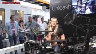 ROLAND TD-25KV E-Drum Kit FULL LIVE DEMO Musikmesse 2015