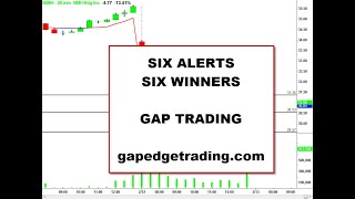 Six Alerts - Six Winners - Day Trading Gaps!