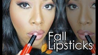 Hydrating Fall Lipsticks