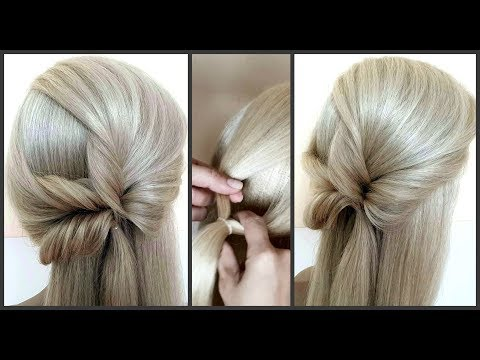 Быстрая прическа за 5 минут.Подробное видео.Красивые Прически.Hairstyle for 5 minutes.Detailed video