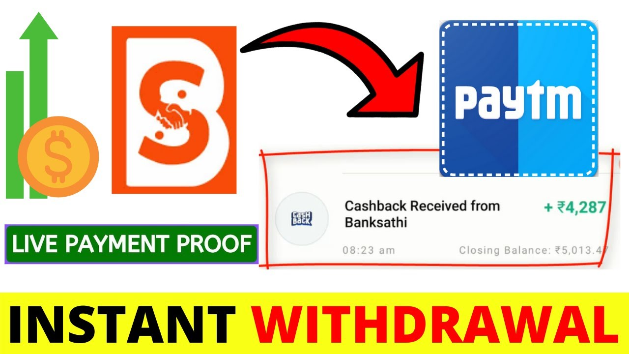 Payment Proof In PayTm Earn Money Online Without Investment - Work on Banksathi App Today thumbnail