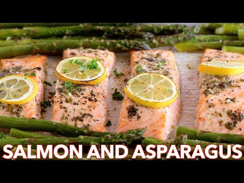 Easy One Pan Salmon Recipe with Asparagus - 30 Minute Meal