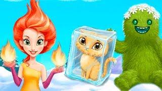 ФЕЯ ОГНЯ помогает животным Мультик для девочек про супер девушки Веселая игра для детей #малышерин