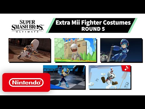 Pack #5 de costumes Mii de Super Smash Bros. Ultimate