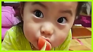 Adorable Korean Baby Eating Little Melons With Mom | Koreaboo Viral