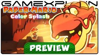 Paper Mario Color Splash Gameplay Preview Princess