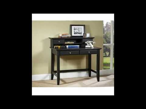 Home Styles Bedford Black Student Desk and Hutch