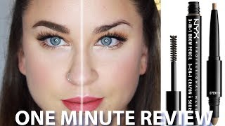NYX 3-in-1 Brow! ONE MIN REVIEW | Beauty Banter