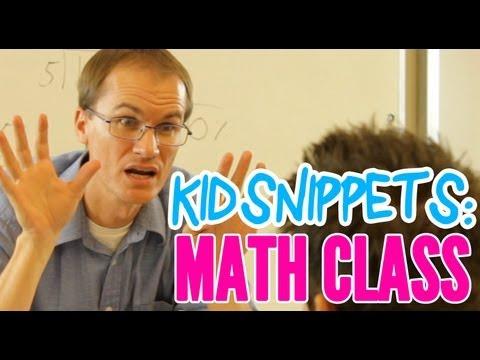 Hodina matematiky podle dětí