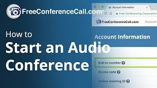 How to Start an Audio Conference