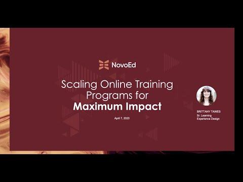 Scaling Online Training Programs for Maximum Impact - YouTube