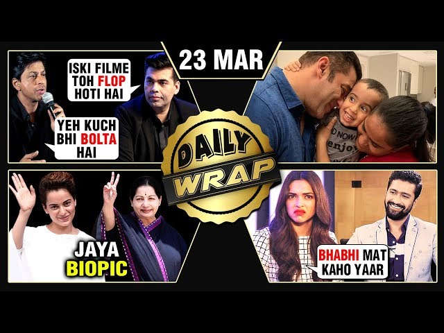 Kangana As Jayalalithaa, Deepika Padukone Angry, SRK Defends Karan Johar | Top 10 News