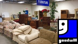 GOODWILL FURNITURE SOFAS ARMCHAIRS SPRING HOME DECOR SHOP WITH ME SHOPPING STORE WALK THROUGH 4K
