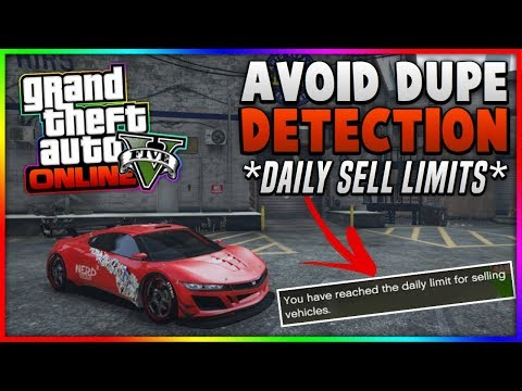 DONT GET CAUGHT IN GTA 5!!! DAILY SELL LIMIT TIPS - AVOID DUPE