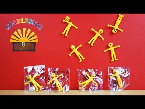 Lustige dehnbare Smiley Figuren Kinder Partytüte Geburtstag Feier Geschenk Wand schmeißen auspacken