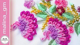❤Brazilian Embroidery❤ Brazilian Exclusive * Flowers Fantasy  #malina_gm