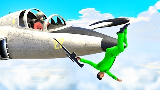 CATCH THE RUNNERS WITH JETS! (GTA 5 Funny Moments)
