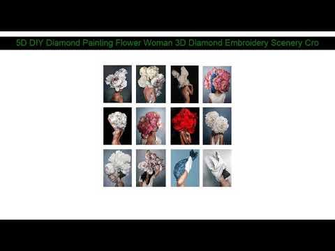 5D DIY Diamond Painting Flower Woman 3D Diamond Embroidery Scenery Cross Stitch Needlework Home Dec