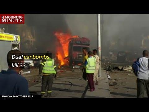 WATCH: Dual car bombs kill 22 in Mogadishu