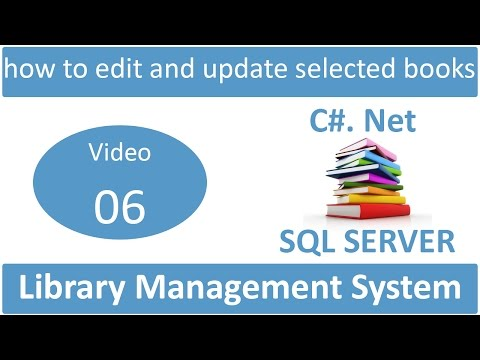 how to edit and update selected books in library management system