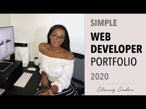 Simple Web Developer Portfolio 2020