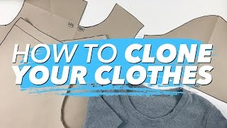How To Make Patterns From Your Clothes (CLONE YOUR WARDROBE) | WITHWENDY