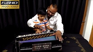 4 Years Old Cute Little Baby : Harsh Chaudhary Crazy To Play Harmonium On His Very First Day!!!