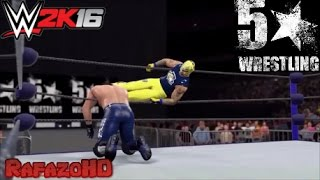 WWE 2K16 Simulation: Rey Mysterio vs AJ Styles - 5 Star Wrestling 14/01/16 Highlights [HD]