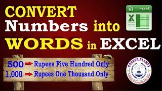 Convert Numbers into Words in Excel How to Convert Number to Word in Excel in Indian Rupees