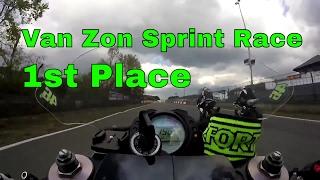 1st place Van Zon Sprint Cup Race 2 Zolder Kawasaki ZX10R onboard 27/04/2017 motorsportschool