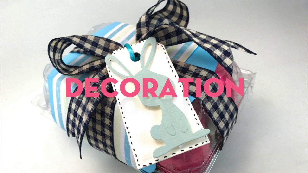 Upcycled  Easter egg box decoration. Big Shot Tutorial (English)