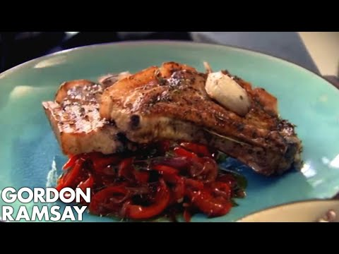 Video Pork Chops with Sweet and Sour Peppers - Gordon Ramsay