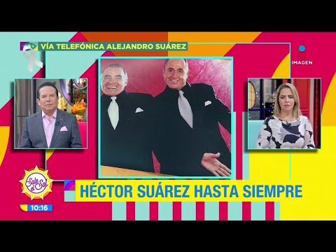 Entre lágrimas, Alejandro Suárez lamenta el fallecimiento de su hermano Héctor Suárez   Sale el Sol