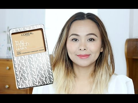 Loreal True Match Genius 4 in 1 Compact Foundation Demo, Review + Wear Test