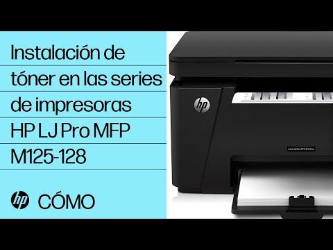 Instalación de tóner en las series de impresoras HP LaserJet Pro MFP M125-128