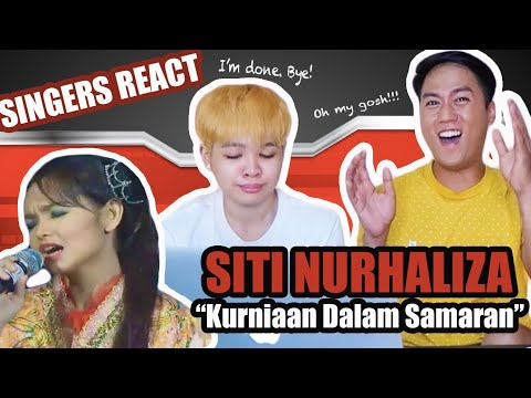 SINGERS REACT to Siti Nurhaliza - Kurniaan Dalam Samaran