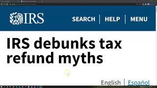 IRS debunks tax refund myths