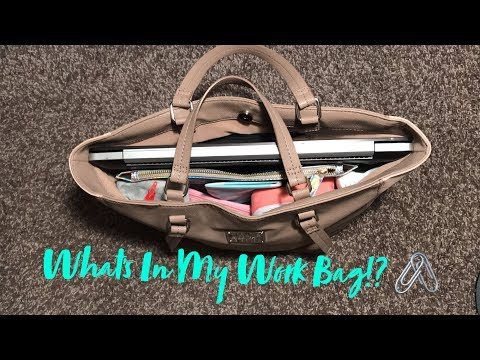 What's In My Bag!? | Office Edition | Laptop Bag | Keep Your Bag Organized | Nine West Purse
