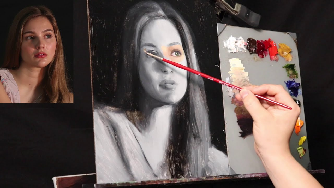 portrait painting tutorial by yupari