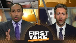 First Take debates Martellus Bennett's comments on marijuana in the NFL | First Take | ESPN
