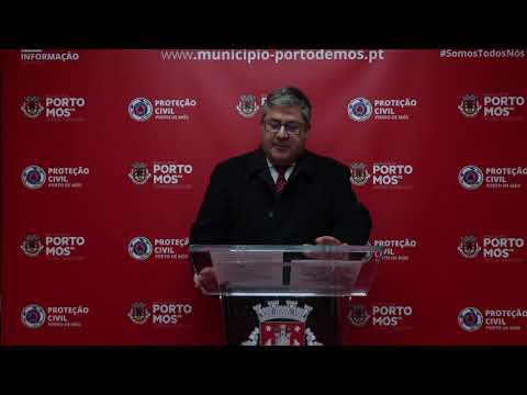 Comunicado Presidente da Câmara Municipal de Porto de Mós - COVID-19 - 19-03-2020