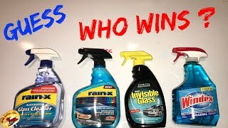Who Makes The BEST Window / GLASS Cleaner?....It May Surprise You!